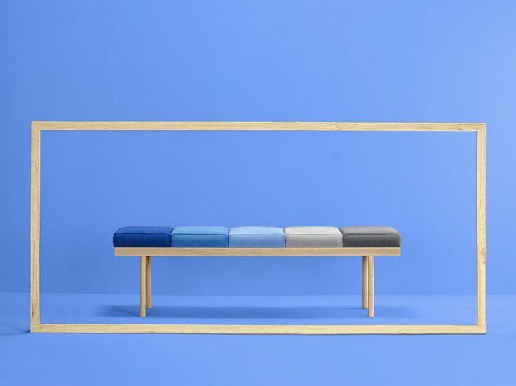Banc rembourré en bois VALENTINO by Missana design Studio Missana
