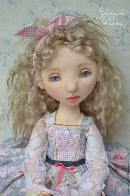 Коллекционные куклы ручной работы. Ярмарка Мастеров - ручная работа. Купить Агата. Handmade. Бледно-розовый, интерьерная кукла
