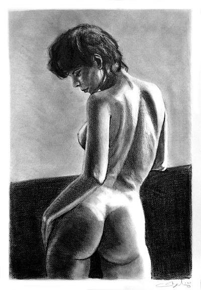 Dessins - Nu 01: Portraits Art, Originals Artworks