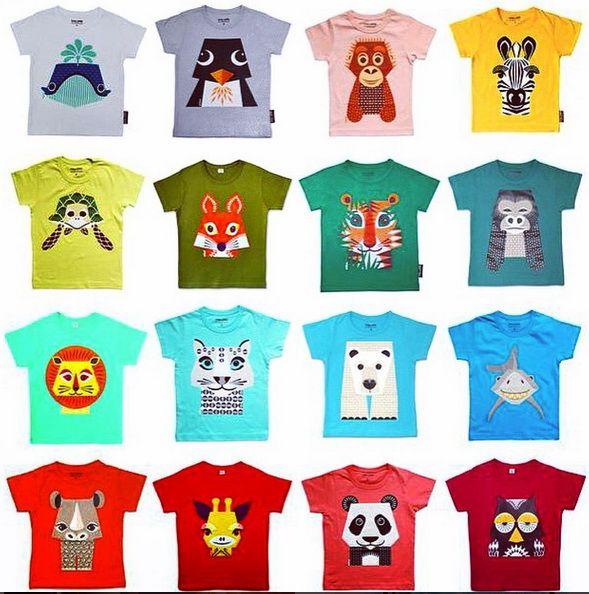 Lovely selection of #organic shirt for kids.