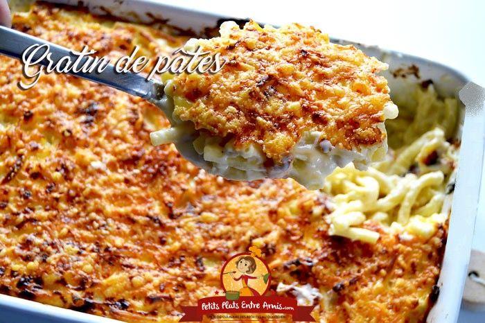 gratin de p tes recette riz p tes lasagnes pinterest repas familial plats de p tes et. Black Bedroom Furniture Sets. Home Design Ideas