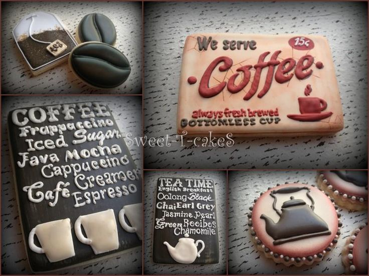 SugarBelle's coffee theme cookies