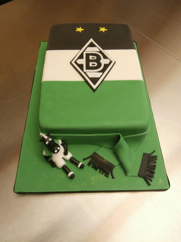 Borussia Mönchengladbach Fan Torte zur  Silvester Party . Wir wünschen einen guten Rutsch ins neue Jahr . www.annetts-sugar-art.de