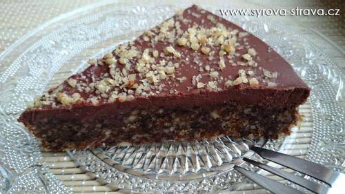 Ořechovo-švestkový brownie dezert s čokoládovo-banánovou polevou (raw food) :: Syrová strava