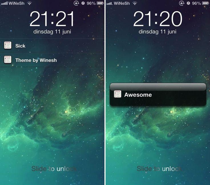 IOS 7 Lockscreen Theme te ajuta sa instalezi in iOS 6 LockScreen-ul din iOS 7