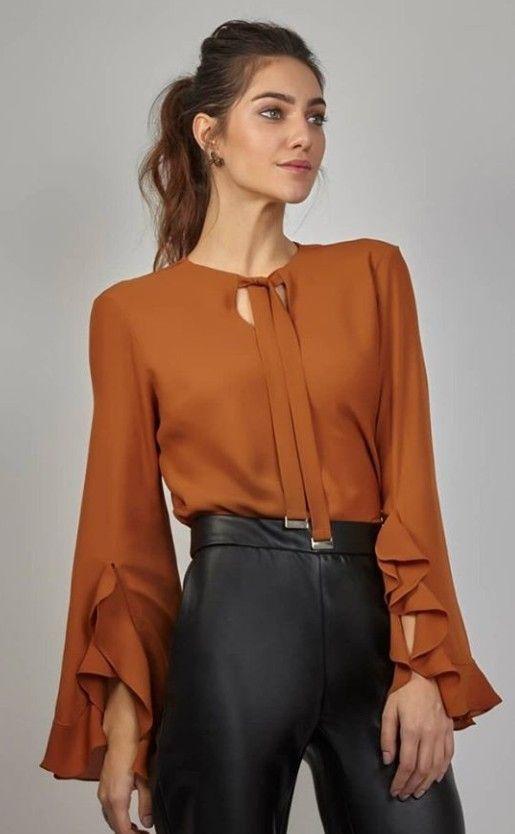 58f0e1c65 Blouse |♢F&I♢ | haut en 2019 | Ropa, Blusas y Blusas de moda