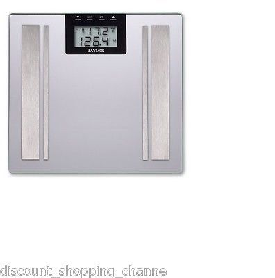 Taylor Digital Body Weight Scale Bathroom Electronic Tempered Glass LCD Display