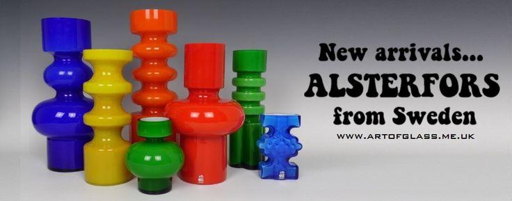 Colourful Alsterfors vases...