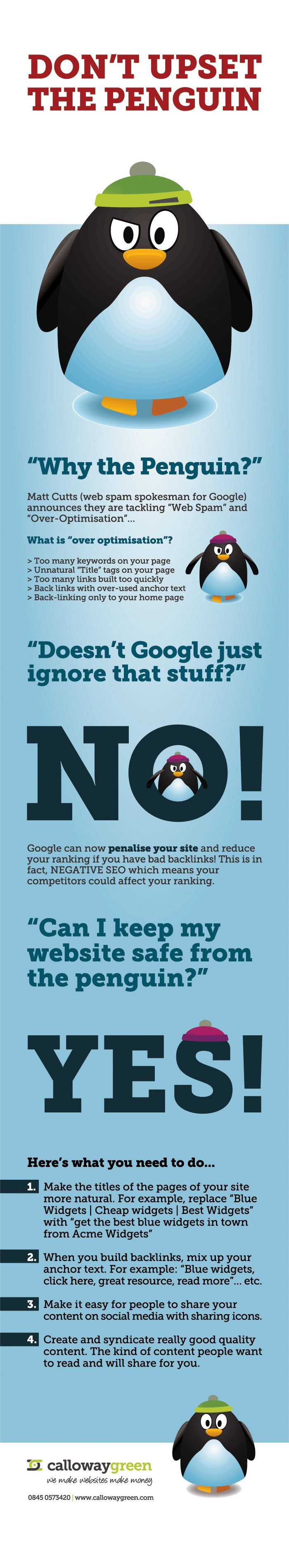 How to Make the Google Penguin Happy [Infographic]