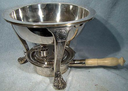 GORHAM Silver Plate Open Chafing Dish on Stand 1900