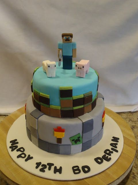 84 Best Images About Cakes Minecraft On Pinterest