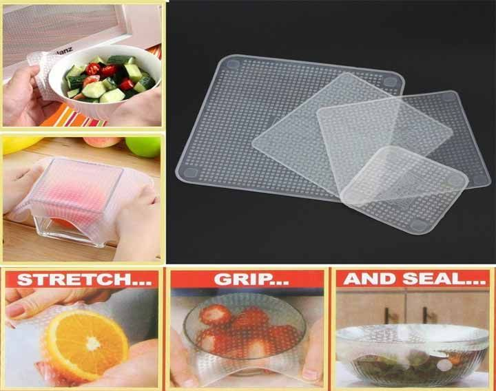 Reusable and Multi-functional Silicon Wrap that will keep your Food Fresh & Secure!  Buy online at Just Rs. 270/-.   #couponndeal #deals #foodcover #multipurposecover #rubberlid