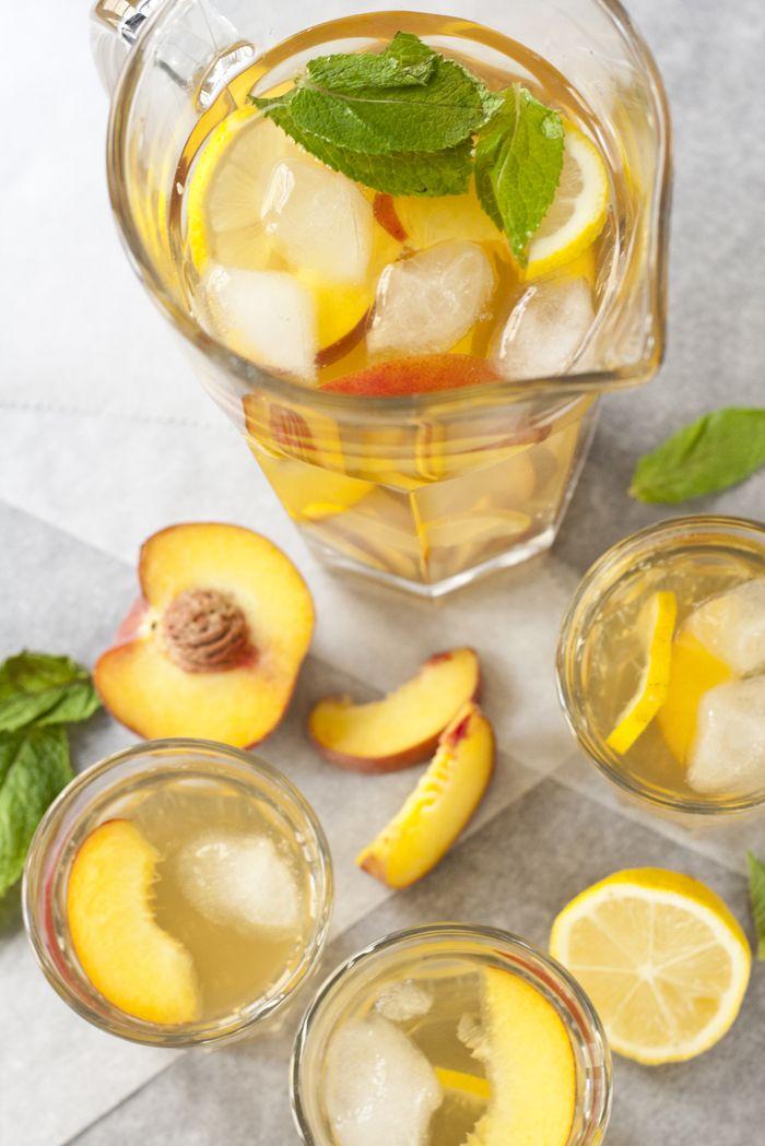 Homemade Ice Tea met Perzik en Citroen - OhMyFoodness
