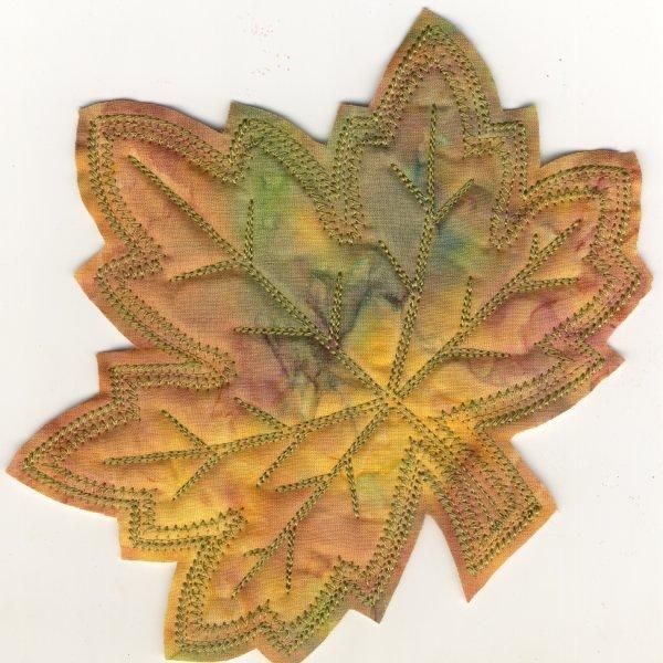 Frayed Leaf Mug Rugs