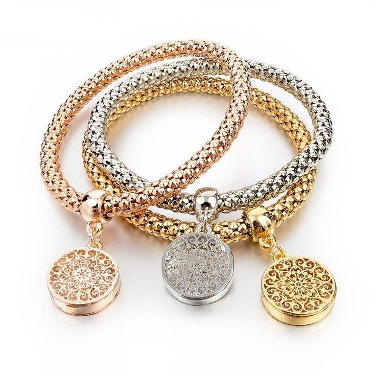 Girls Charm Bracelets Bangles Gold/Silver Plated Friendship Bracelets Bijioux Pendant Bracelet Pulseira Feminina