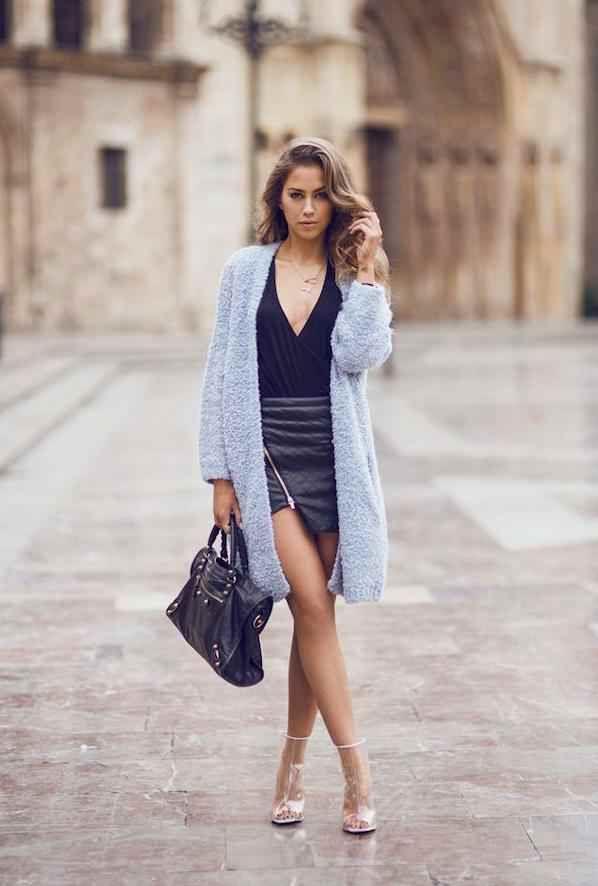 Son Moda Uzun Hırka Modelleri - Hırka Kombinleri - Sade Kadınlar