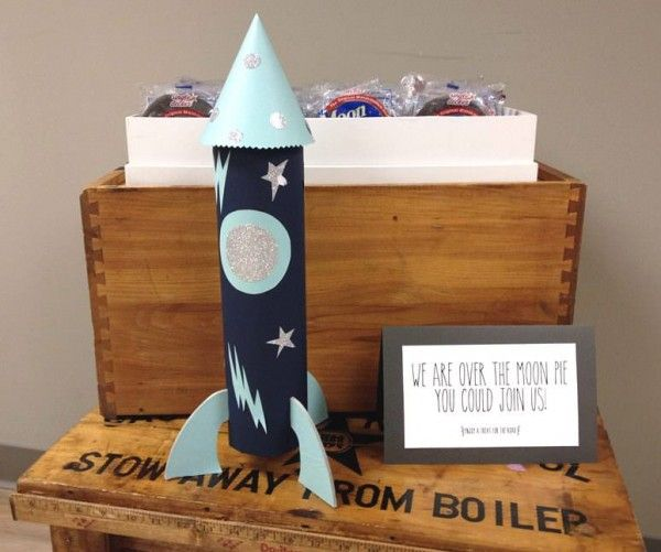 Over the moon (pie) that you could join us -- sweet baby shower favors for all to savor!