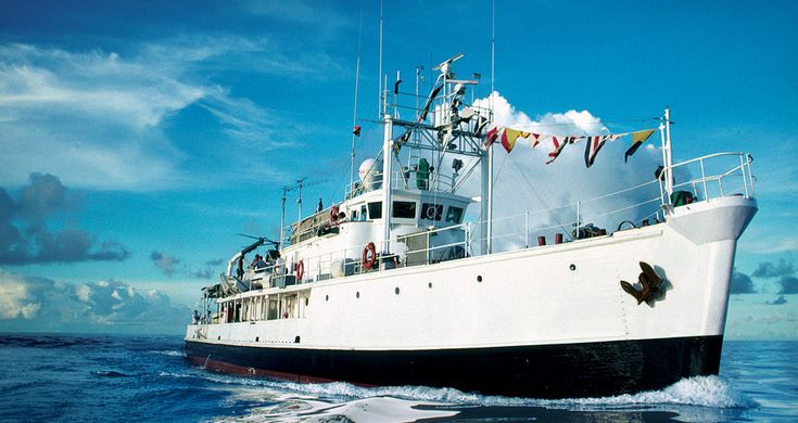Jacques Cousteau's Calypso Remember the shows on tv opening up the under sea experiences never seen before.