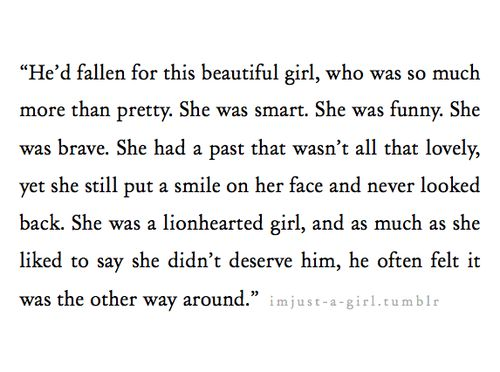 He'd fallen for this beautiful girl..