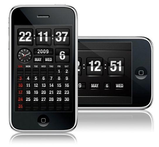 FlipTime iPhone app   Designer: Omletworks - http://www.omletworks.com   App: http://itunes.apple.com/app/fliptime/id315466610?mt=8