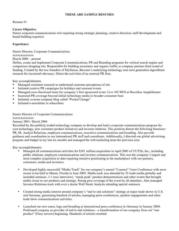 Resume objective examples hakkında Pinterestu0027teki en iyi 20+ fikir - assistant manager cover letter