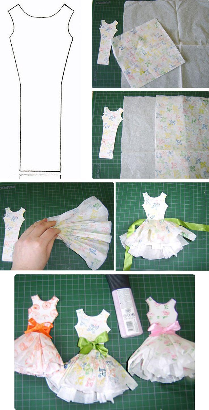 Поздравлениями днем, как сделать платье из ленты на открытке