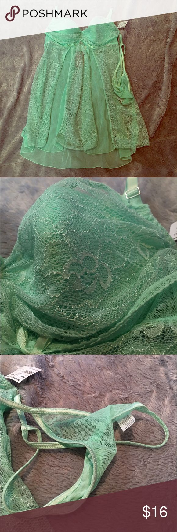 Frederick's of Hollywood Frederick's of Hollywood Lingerie. NWT. Size small. No cup noted, looks B-C cup. Seafoam Green. ❌No Trades❌Proceeds go towards feeding the homeless❌ Frederick's of Hollywood Intimates & Sleepwear Chemises & Slips