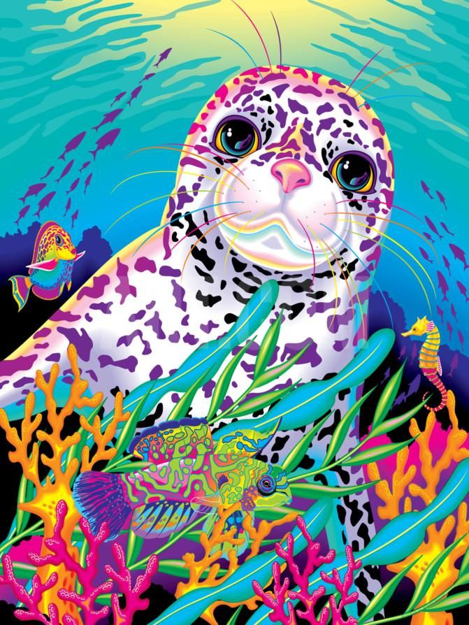 Rainbow Reef '94 Art Print by Lisa Frank at Art.com