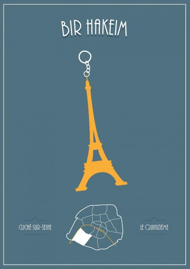 """Le collectif """"Animals"""" nous propose une série de 20 illustrations signée par Simon Sek. Des illustrations dans lesquelles sont pointés certains clichés Parisiens pour chaque arrondissement."""