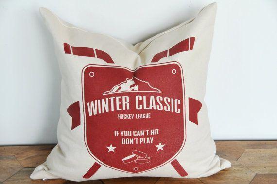 Winter Classic Hockey Pillow
