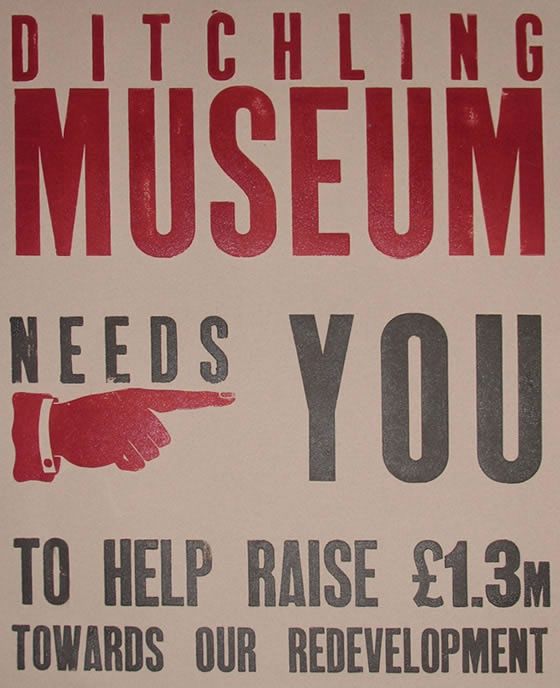 Birthplace of English Modernist Typography? Home of Edward Johnston and Eric Gill: the Ditchling Museum needs you...