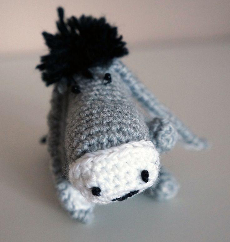 Amigurumi - Petit âne ou bourricot gris, beige et noir : Jeux, jouets par lesbijouxdunibou