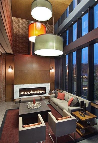 Fireside Lounge in DC Apartment. #dcapartments #apartmentfinder #dcliving
