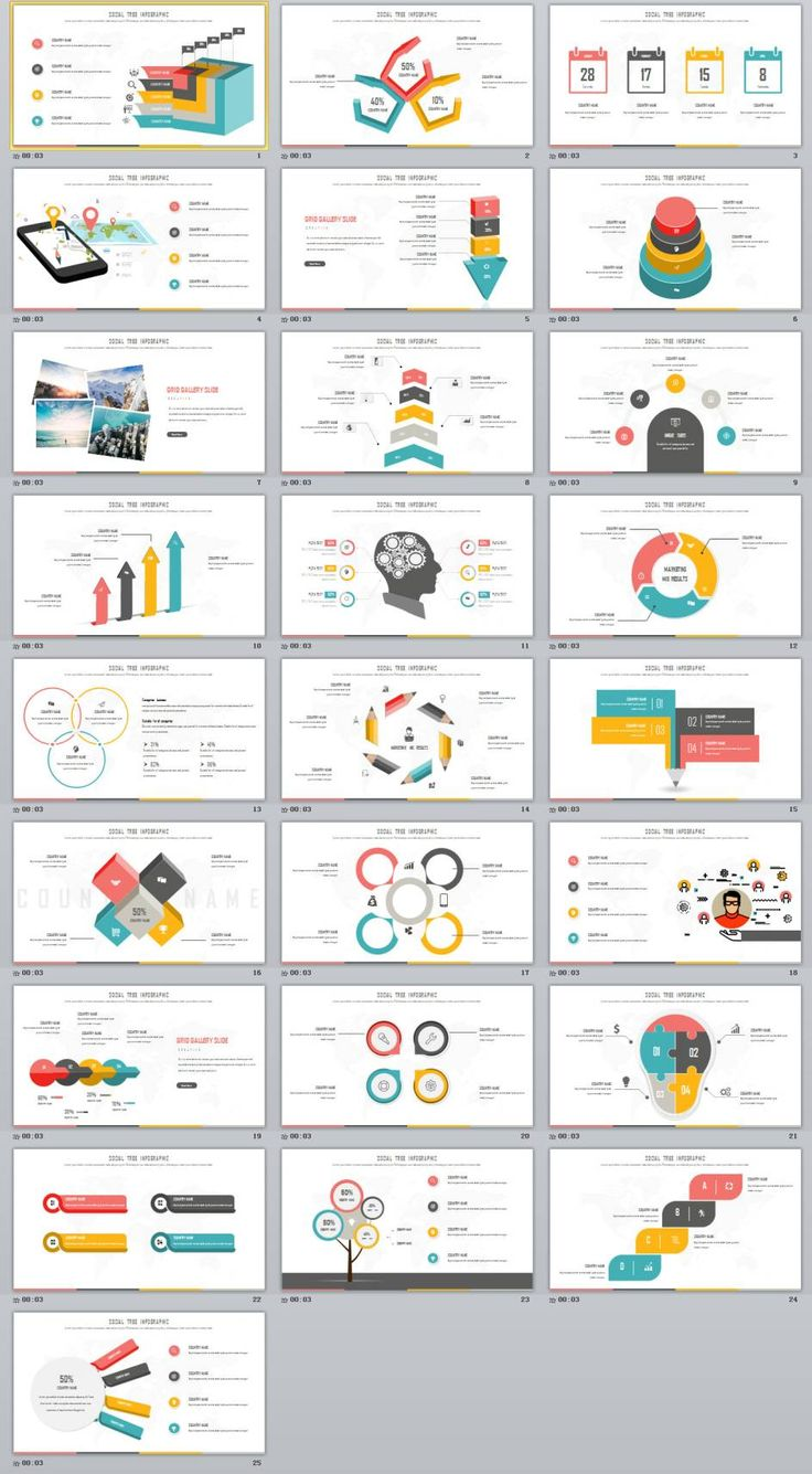 25+ multicolor chart slides PowerPoint Template