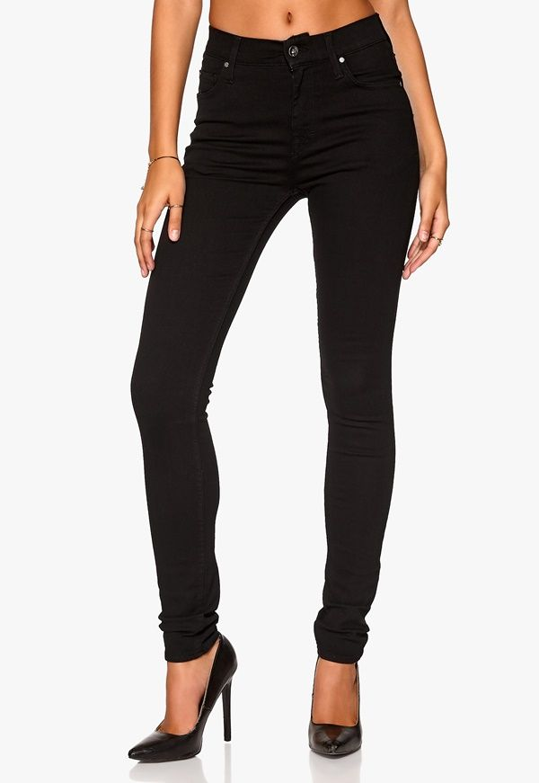 Sorte smalle bukser i sort. Meget elastiske. str. 38 Fx TIGER OF SWEDEN Kelly Jeans - Bubbleroom