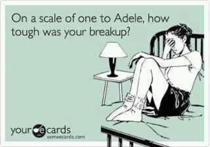1-Adele.   <3Taylor Swift, Breaking Up, Accurate, Ecards 3, Adele'S I, Too Funny, So True, Taylors Swift, So Funny
