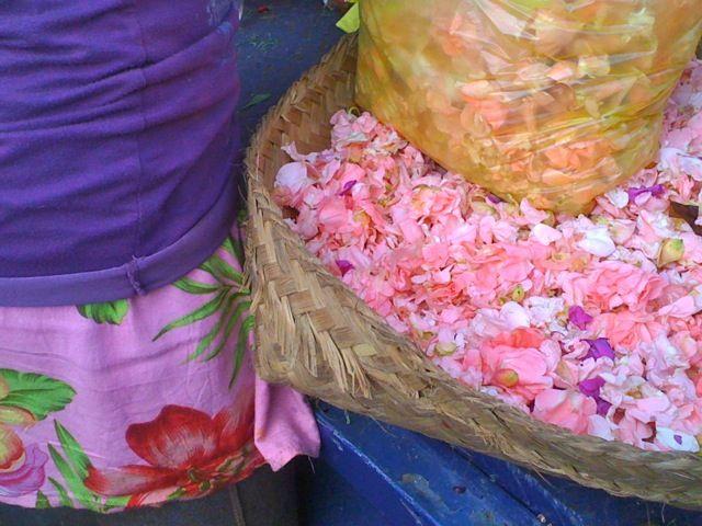 Flower seller at Ubud market.