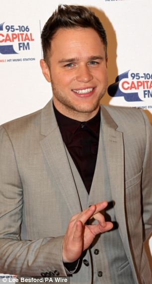 Charity: Olly Murs arriving at the Capital Rocks gig 'Help A Capital Child' for Capital FM at the Roundhouse, London on Thursday night