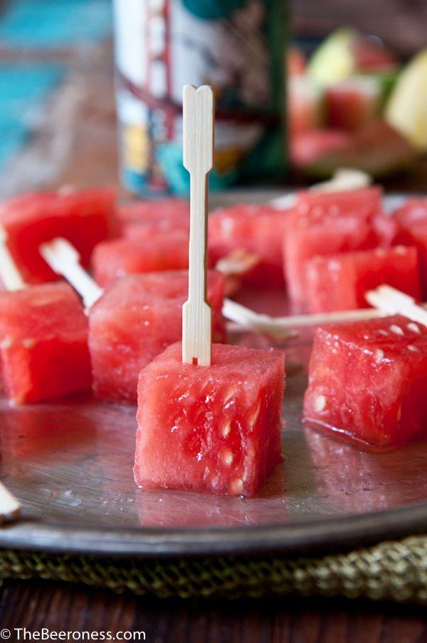 Beer Soaked Watermelonsicles ... refreshing summer treat. So simple!