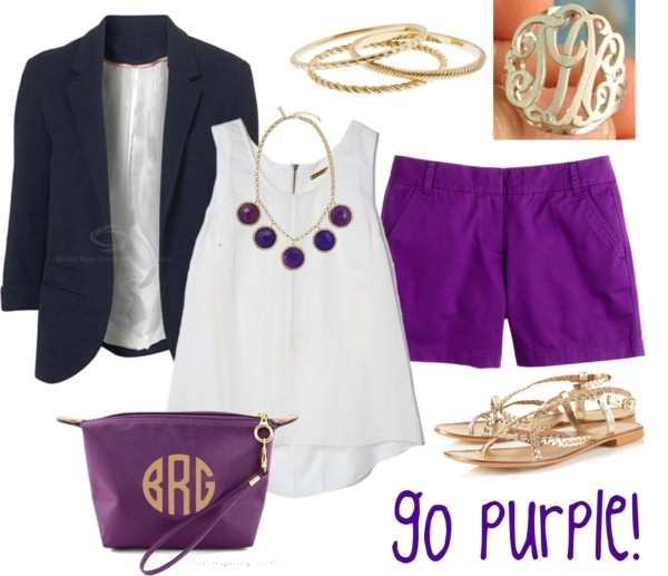 """Go Purple!"" by marleylilly on Polyvore: Lsu Gameday Outfits, Purple Shorts, Fu Purple, Spring Summ Outfits, Style I M, Marley Lilli, Lsu Tigers, Polyvore, Wear"