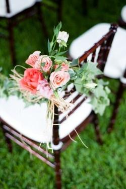 wedding flower chair decoration