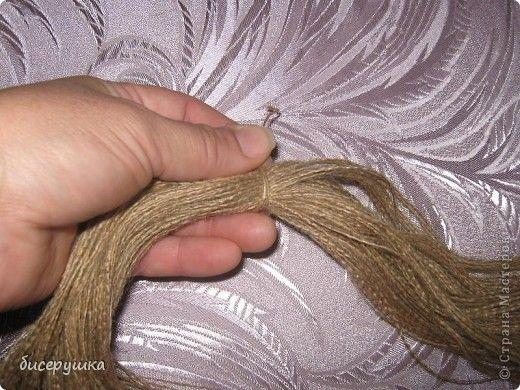 Сегодня я покажу МАСТЕР-КЛАСС по пошиву домовёнка с мешковины... фото 3