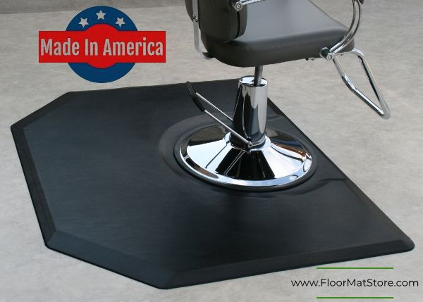3 X5 Or 4 X5 Polyurethane Hexagon Salon Mat For Full Chair Coverage Available In 3 4 Thickness Salonmat Beauty B Barber Shop Decor Hexagon Salon Decor