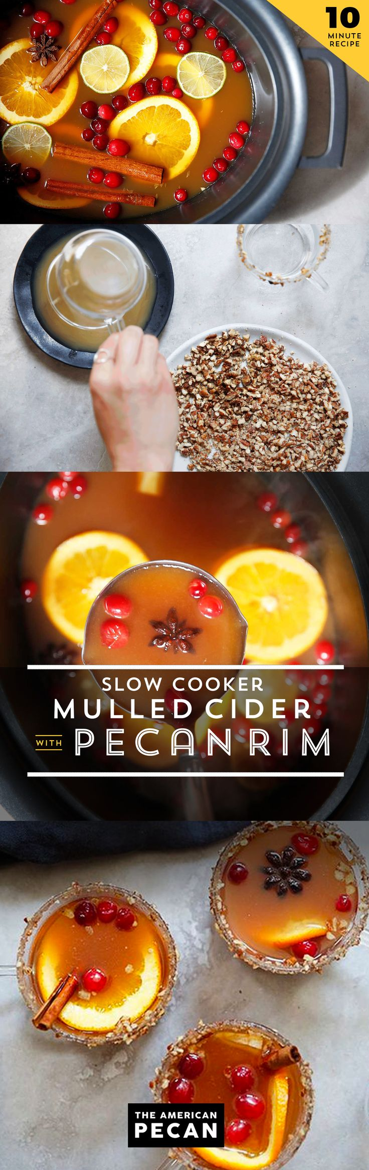 Set it on low and let it simmer �til happy hour. This slow cooker pecan mulled cider is stress-free and perfect for chilly winter evenings.