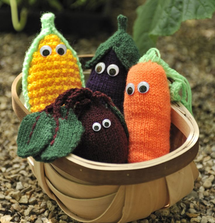 Knitted vegetables free pattern