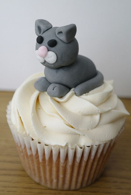 Cat Cupcake by There for the Baking