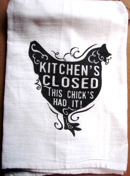 FLOUR SACK  Kitchens closed chick