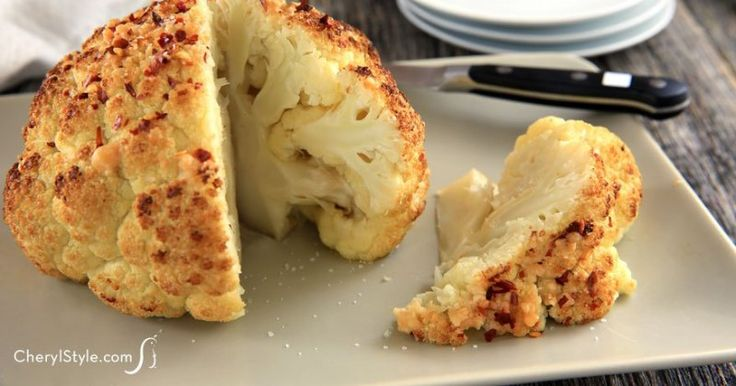 Whole roasted cauliflower - Everyday Dishes