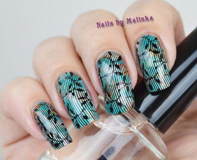 Nails by Malinka: Beauty BigBang butterfly floral plate