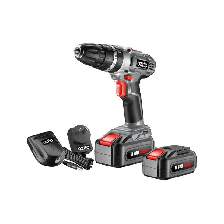 Ozito 18V Ni-Cad Hammer Drill With 2 Batteries